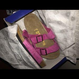 Birkenstock Arizona Pink Suede Sandals New In Box!